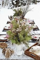 57 Trendy Wedding Winter Forest Table Settings