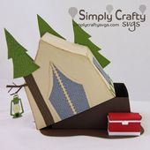 Tält Campingbox SVG File – Simply Crafty SVGs