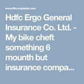 Hdfc Ergo General Insurance Co Ltd My Bike Cheft Something 6