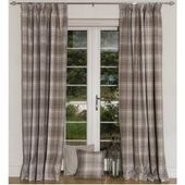 Curtains with ruffled ribbon