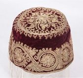 19th Century Turkish Wedding Hat with Metalic Thre…