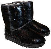 UGG Australia Black Sparkles Sequin Classic Boots/Booties Size US 7 Regular (M, B)