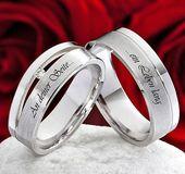 Eheringe Verlobungsringe 925 Silber mit echten Diamant und Lasergravur   SLB42