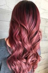 Rosenholzrot # Langhaar # Wellenhaar ★ Rote Haarfarbe ist Ihre Waffe, um Köpfe zu machen …   – hair cuts