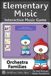 Orchesterinstrument Families Interaktives Musikspiel {Dress Snowman}   – Music Centers – Music Stations