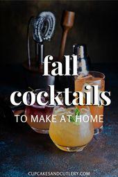 15 schmackhafte Herbstcocktails für diese Saison