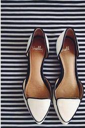 Zapatos de boda planos marfil de Shelly a través de The Darling Detail #weddingshoes, flache …   – Schuhes