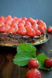 Erdbeer-Schoko-Käsekuchen – #ErdbeerSchokoKäsekuchen – #ErdbeerSchokoKäsekuch…
