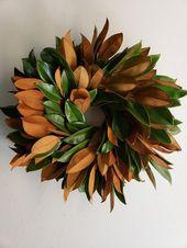 20″ Fresh Magnolia Wreath