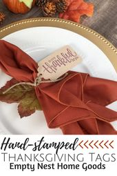 Thankful For You Place Setting Tags, Thanksgiving Silverware Tags, Grateful For You Place Card