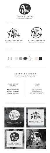 Tablero de marca en blanco y negro | #brand #brandboard #branding   – Design