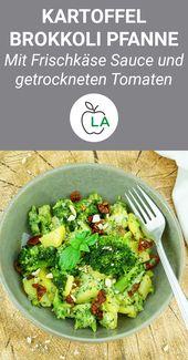 Kartoffel Brokkoli Pfanne – Vegetarisches und kalorienarmes Rezept – Gesunde Rezepte zum Abnehmen