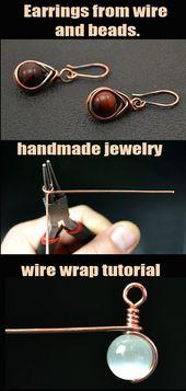 wire wrap tutorials, wire wrap, wire wrapped, wire jewelry, handmade