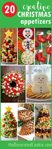 CHRISTMAS APPETIZERS: 20 creative and fun holiday appetizers