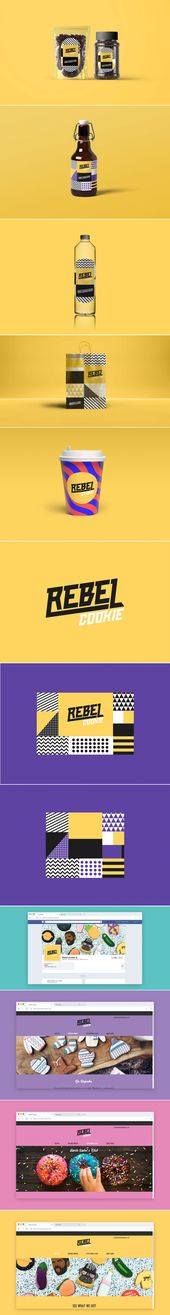 La marca y el empaque de Rebel Cookie vienen con un aspecto estampado divertido   – Branding and Identity Design