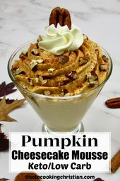 Keto Pumpkin Cheesecake Mousse