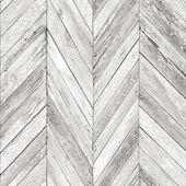 Grey Herringbone Wood Wallpaper Departments Diy At B Q Wood Wallpaper Wood Wallpaper Bedroom Brick Effect Wallpaper