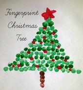 Ihre Kinder können mit ihren Fingern einen Weihnachtsbaum basteln   – xmas