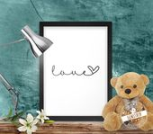 "Print, Poster, Leinwand just ""Love"""