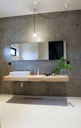 modern bathroom furniture wooden large mirror – Desi …