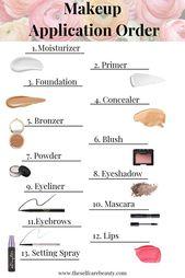 Wie viele von Ihnen haben keine Ahnung, in welcher Reihenfolge Sie Ihr Make-up auftragen sollen? Ich