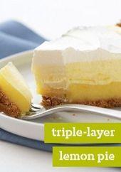 Triple-Layer Lemon Pie – Hallo, Sonnenschein. Drei Schichten – flauschig, cremig und …