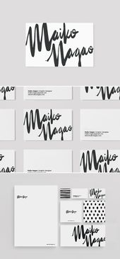 Illustrator Business Card Stationary design and branding by Maiko Nagao. Graphic design for print ideas.