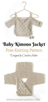 Baby Blanket Kimono Sweater Free Knitting Pattern