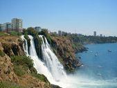 Waterfall in Antalya stock photo. Image of city, mediterranean – 34823442