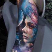 Tatuajes originales y minimalistas a todo color. Hay muchos colores para hacer …   – Tatuajes A Color