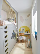 A child's room in pastel colors
