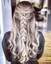 Brautfrisur halboffen für langes Haar – 30 Ideen …