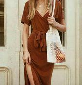 The Dress Fashion Style Burnt Orange Dress