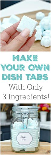 3 Ingredient Homemade Dish Tablets