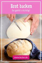 Brot backen – so geht's Schritt für Schritt   – Herbstrezepte
