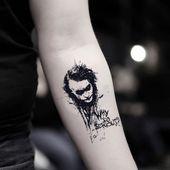 Joker Temporary Tattoo Sticker (Set of 2)