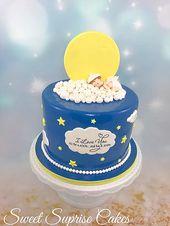 Ich liebe dich bis zum Mond und zurück Babypartykuchen Sterne und Mond Wolken und Engel …   – Beautiful designer cakes and more
