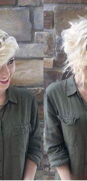 Beste geschichteten Kurzhaarschnitt – Frauen kurze Frisur für dickes Haar #Shorthairdos – #Hair #Haircut #Hairstyle #Layered