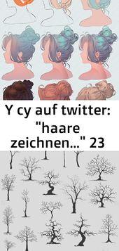 """Y cy auf Twitter: """"Haare zeichnen …"""" 23   – ideen"""