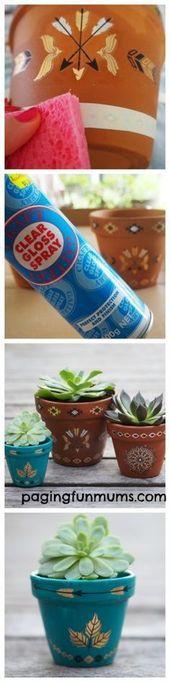 Using Temporary Tattoos to decorate pots! Such a brilliant DIY idea! – diy tattoo ideas
