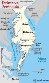 Image result for DELMARVA MAP