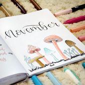 Ich freue mich sehr, euch allen mein November-Tagebuch zeigen zu können !! Mein Thema für diesen Monat ist Pilze und meine Themenfarben sind braun, pink und b