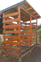 Photo of A stable firewood shelter (firewood shed) well and cheaply even …