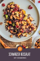 Rezept für Schwarzer Reissalat mit Cranberries