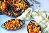 Roasted Brussels Sprouts & Butternut Squash   – Best Thanksgiving Ever