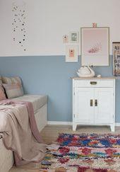Der Kindergarten wird blau – Tipps für ein besseres Malergebnis – HEIMATBAU…   – kids playroom