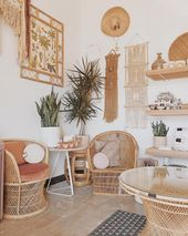 17 boho interiors which might be completely rocking the rattan development