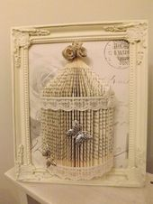 Simple and beautiful DIY projects with old books