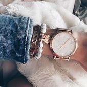 Bracelet manchette de temps en or rose #fashion #ootd #fashionista #schmuck #roseg …