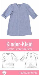 Mädchenkleid Freebook Gr. 98 – 128 für Webware